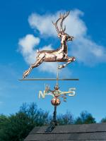 Copper Deer Weathervane - Polished