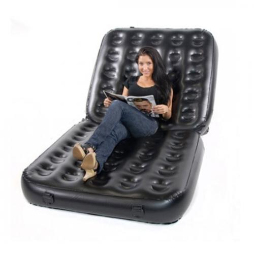 Smart Air Beds 4 x 1 EZ Inflatable Multi-Chair, Black - Bed, Sofa, Recliner, Lounger (BD-0010B)
