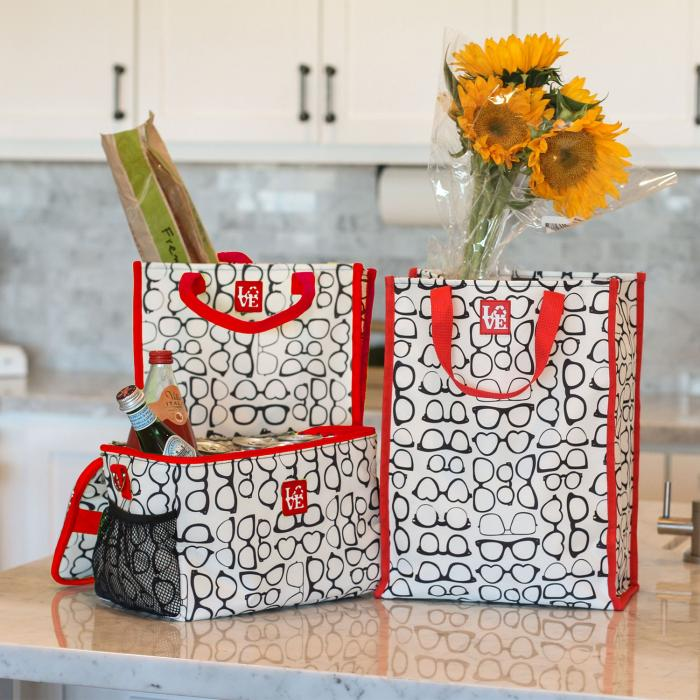 Love Bags Sunny Shades Chill Set, 3 in 1 Cooler/Tote Set