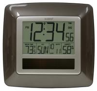 La Crosse Technology Solar Atomic Digital Wall Clock w/ Indoor Temp / Humidity