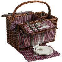 Picnic & Beyond Willow Picnic Basket for 2