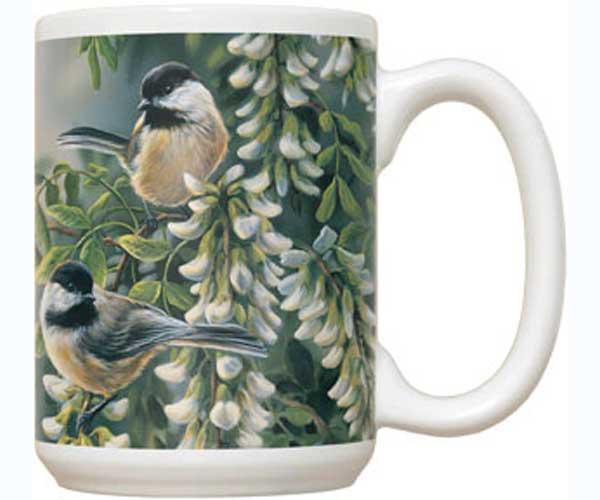 Fiddler's Elbow Springtime Jewel Chickadee 15 oz Mug