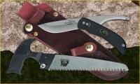 "Outdoor Edge SwingBlade Pak - SwingBlade Knife, 6"" Kodi-Saw, and Leather Sheath"