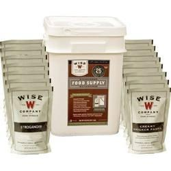 Wise Foods Wise Emergency Food Kit 60 Serving, Entree