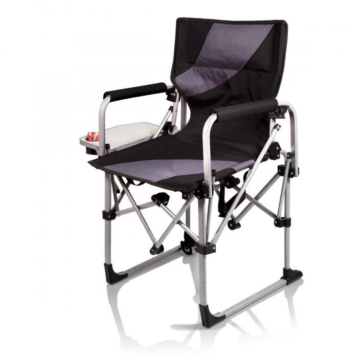 Picnic Time Meta Chair, Black/Grey