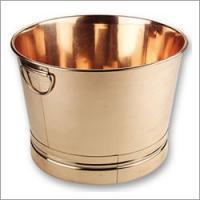 "Old Dutch Round Decor Copper Party Tub 17 3/4"" x 11"""