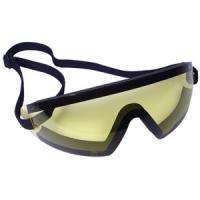 Bobster Action Eyewear Wrap Around Goggle, Black Frame, Yellow Lens