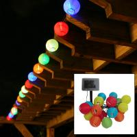 Smart Solar Solar Chinese Lantern Light String, 20 Count