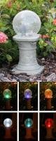 STI Group Chameleon Crackled Glass Solar Gazing Ball