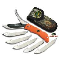 Outdoor Edge Razor Pro, Orange Handle, 6 Blades w/Nylon Belt Sheath