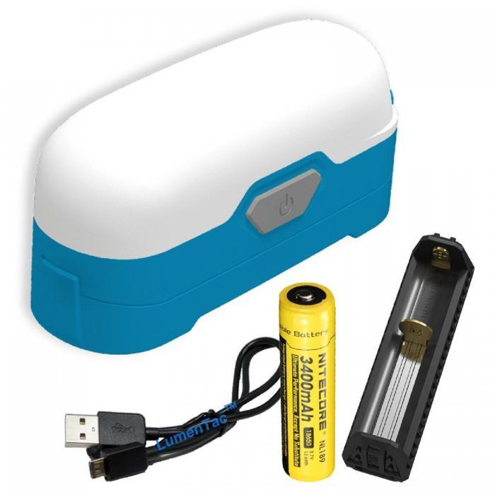 LR30 Portable Compact  Lantern, Ocean Blue, 205 lm, 18650
