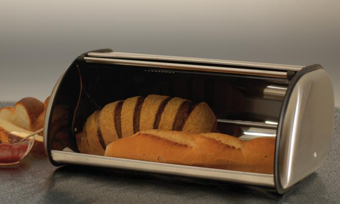 Brushed Stainless Steel Bread Box