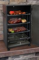 "Landmann Smoky Mountain 26"" Vertical Electric Smoker, Black-Solid Door"