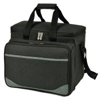 Picnic at Ascot Deluxe Picnic Cooler for Four - Charcoal