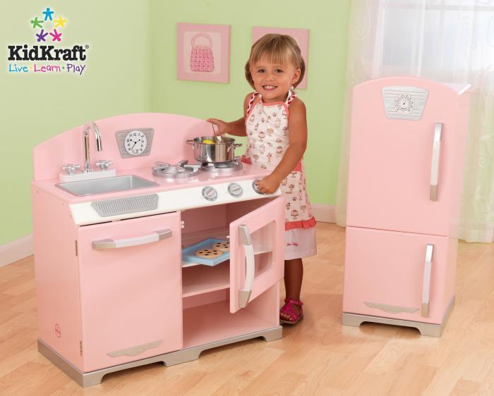KidKraft Pink Retro Kitchen 2 Piece Set