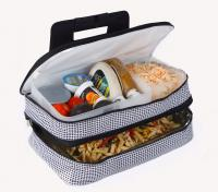 Picnic Plus Entertainer Hot & Cold Food Carrier - Houndstooth