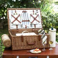 Picnic at Ascot Dorset Picnic Basket for Four with Blanket - Santa Cruz