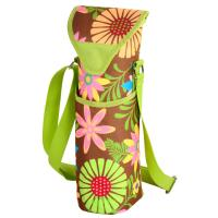 Picnic at Ascot Insulated Wine/Water Bottle Tote with Shoulder Strap -  Floral