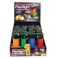 Wilcor 1 LED Plastic Flashlight, Assorted Colors