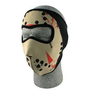Cold Weather Headwear Neoprene Face Mask, Glow in the Dark, Jason Mask