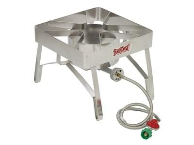 Stainless Patio Stove w/ Full Windscreen