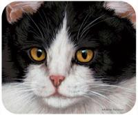 Fiddler's Elbow Black & White Cat Mouse Pad