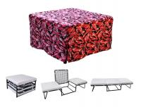 Nova Furniture Magical Ottoman Sleeper with Memory Foam Mattress Pads and Pink Camouflage Microfiber Cover