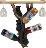 Rivers Edge Products Bears Wine Shelf Holder