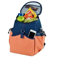 Picnic at Ascot Insulated Backpack Cooler - Orange/Navy