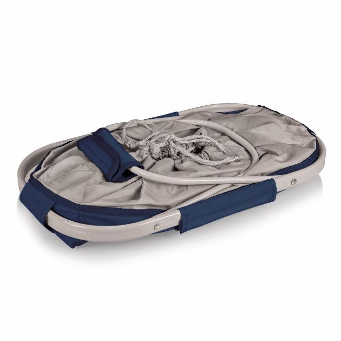 Picnic Time ONIVA Metro Basket Collapsible Cooler Tote (Navy Blue)