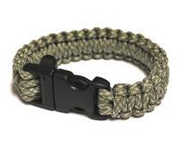 JB Outman Survival Bracelet With Whistle - Golden
