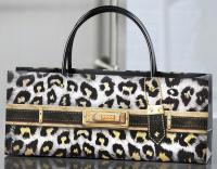 Giftcraft White Leopard Print Handbag Design Wine Bottle Gift Bag