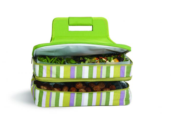 Picnic Plus Entertainer Hot & Cold Food Carrier - Lime Rickey