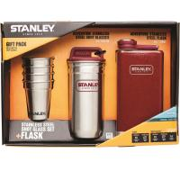 Stainley Adventure Gift Pack w/Flask and Shot Set - Crimson