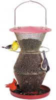 No-No Red & Brass 3 Tier Standard Bird Feeder