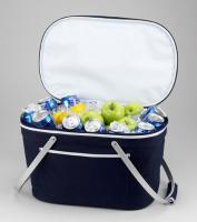 Picnic at Ascot Collapsible Basket Cooler Blue