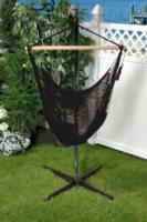 Bliss Hammocks Tahiti Cotton Rope Hammock Chair - Black