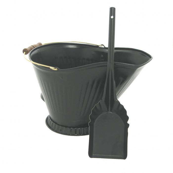 Imperial Manufacturing Coal Hod & Shovel Set - Black