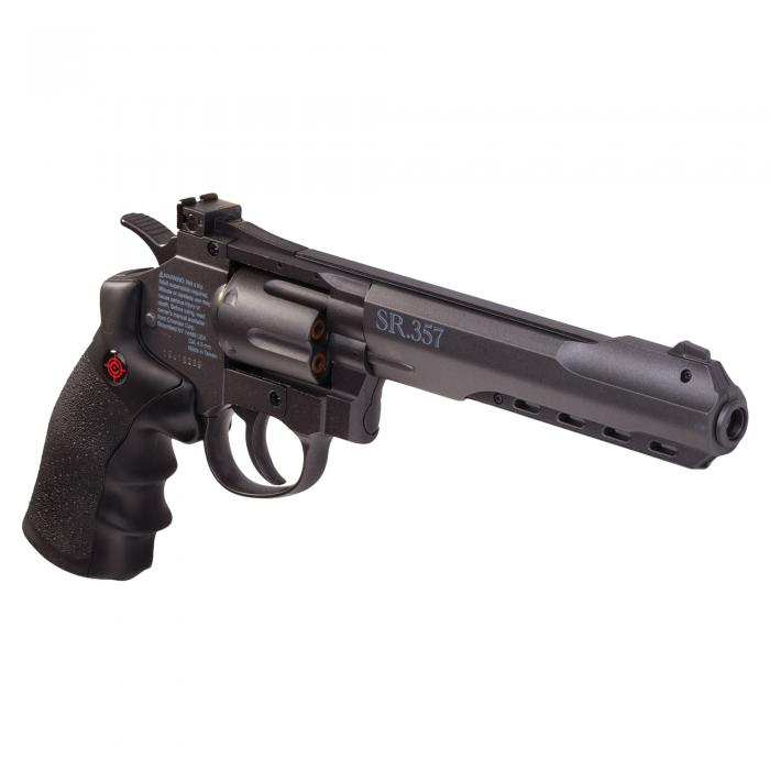 SR 357 Revolver Blk Metal CO2 4.5mm 6rd
