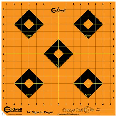 "Orange Peel Sight-In Target: 16"" 5 sheets"