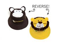 Luvali Convertibles Monkey/Lion Reversible Kids' Hat Large