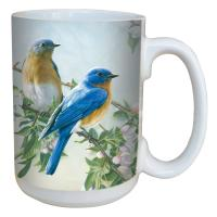 Tree Free Greetings Bluebird Branch Mug 15 oz