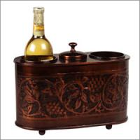 """Old Dutch 12 1/2"""" x 6"""" x 9 1/4"""" Antique Embossed Two Botle Wine Chiller"""